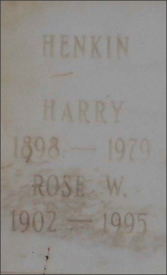 Harry and Rose Henkin headstone