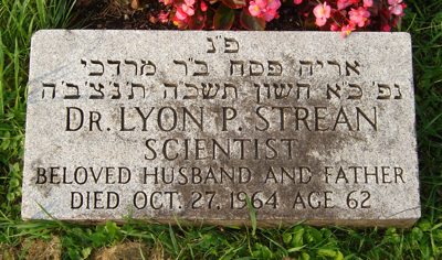 Dr. Lyon Strean headstone