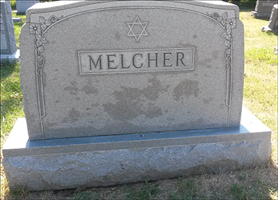 Melcher family headstone
