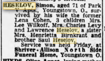 Simon Heselov obituary